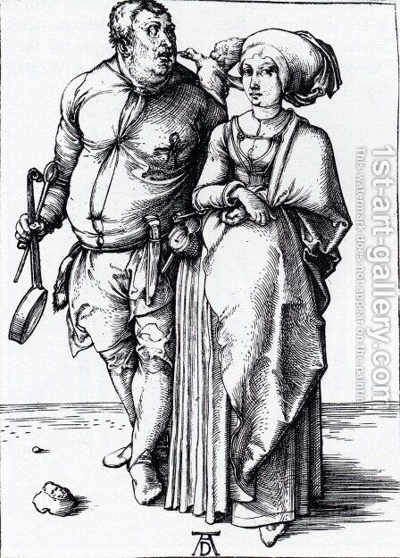 The Cook And His Wife by Albrecht Durer - Reproduction Oil Painting