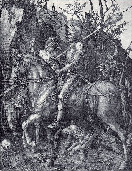 The Knight  Death And The Devil by Albrecht Durer - Reproduction Oil Painting