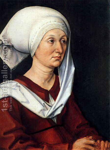Portrait Of Barbara Durer by Albrecht Durer - Reproduction Oil Painting