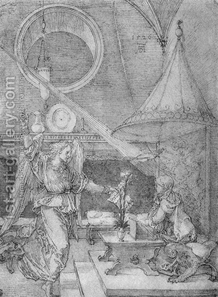 Annunciation by Albrecht Durer - Reproduction Oil Painting
