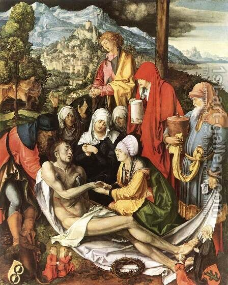 Lamentation For Christ by Albrecht Durer - Reproduction Oil Painting