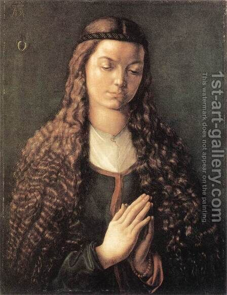 Portrait Of A Young Furleger With Loose Hair by Albrecht Durer - Reproduction Oil Painting