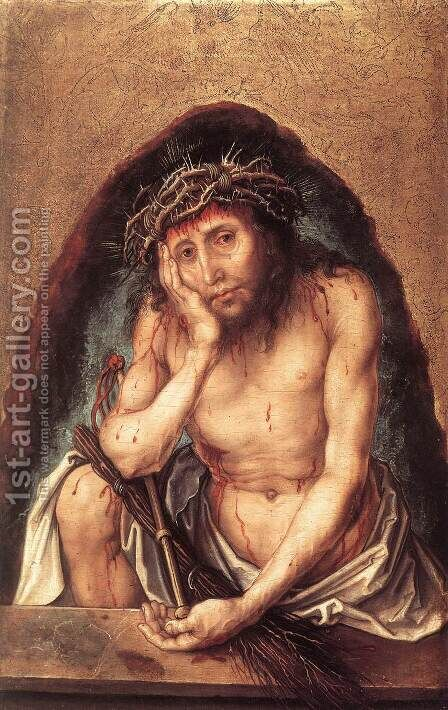 Christ As The Man Of Sorrows by Albrecht Durer - Reproduction Oil Painting