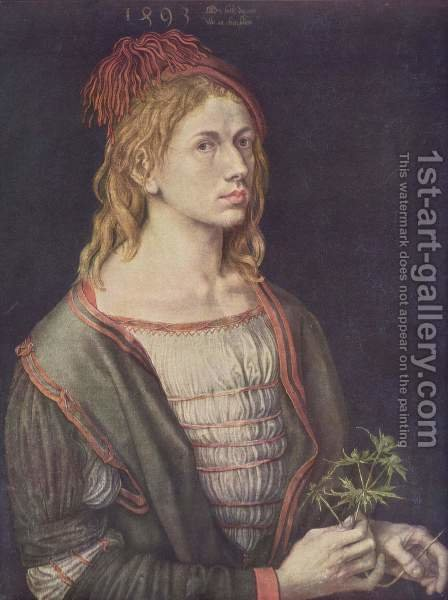 Self Portrait At 22 by Albrecht Durer - Reproduction Oil Painting