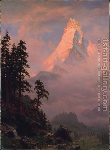 Sunrise On The Matterhorn by Albert Bierstadt - Reproduction Oil Painting
