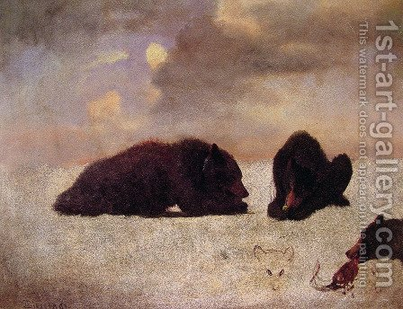 Grizzly Bears by Albert Bierstadt - Reproduction Oil Painting