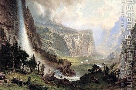 The Domes Of The Yosemite by Albert Bierstadt - Reproduction Oil Painting
