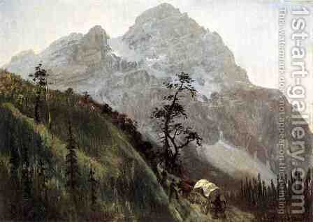 Western Trail  The Rockies by Albert Bierstadt - Reproduction Oil Painting