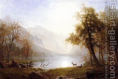 Valley In Kings Canyon by Albert Bierstadt - Reproduction Oil Painting