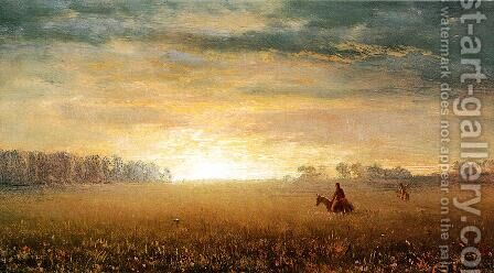 Sunset Of The Prairies by Albert Bierstadt - Reproduction Oil Painting