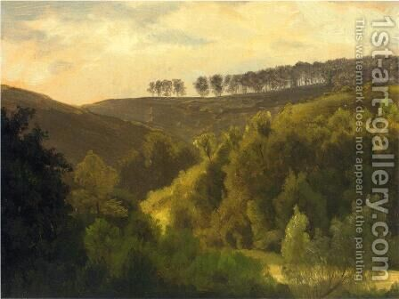 Sunrise Over Forest And Grove by Albert Bierstadt - Reproduction Oil Painting