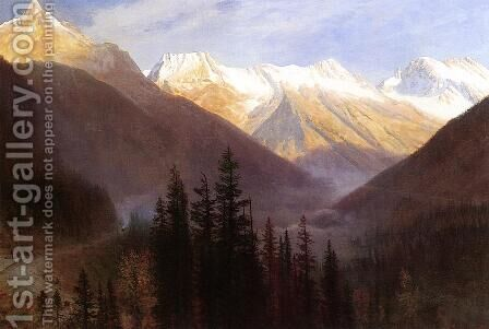 Sunrise At Glacier Station by Albert Bierstadt - Reproduction Oil Painting
