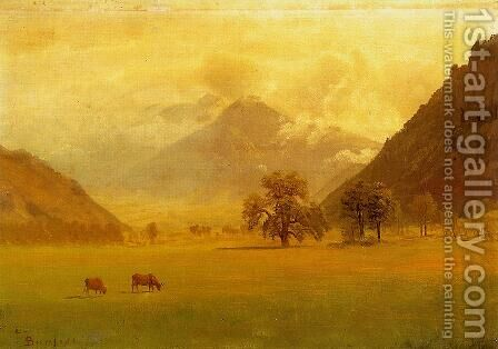 Rhone Valley by Albert Bierstadt - Reproduction Oil Painting