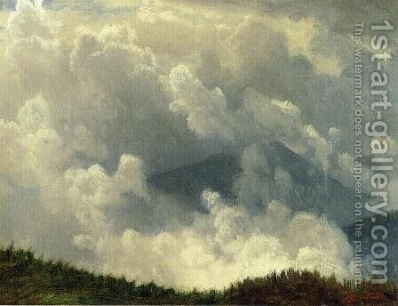 Mountain Mist by Albert Bierstadt - Reproduction Oil Painting