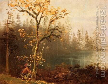 Indian Scout by Albert Bierstadt - Reproduction Oil Painting