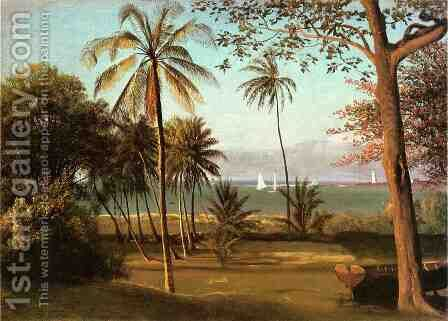 Florida Scene by Albert Bierstadt - Reproduction Oil Painting