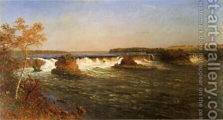 Falls Of Saint Anthony by Albert Bierstadt - Reproduction Oil Painting