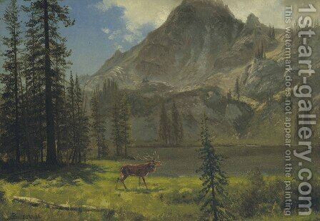 Call Of The Wild by Albert Bierstadt - Reproduction Oil Painting