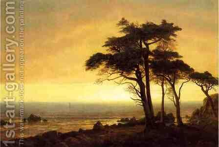 California Coast by Albert Bierstadt - Reproduction Oil Painting