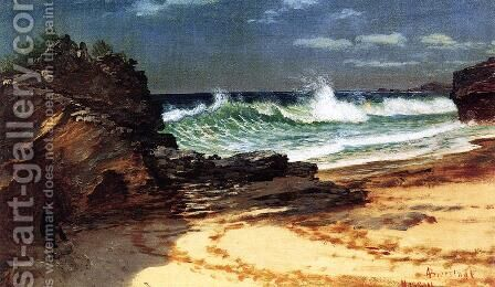 Beach At Nassau by Albert Bierstadt - Reproduction Oil Painting