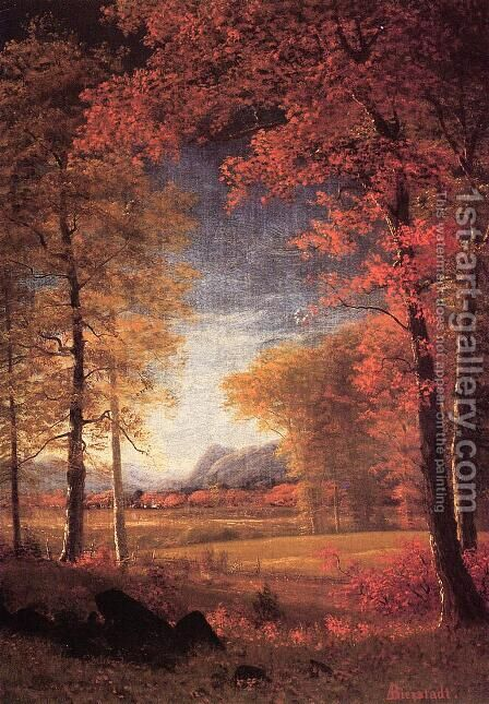 Autumn In America  Oneida County  New York by Albert Bierstadt - Reproduction Oil Painting
