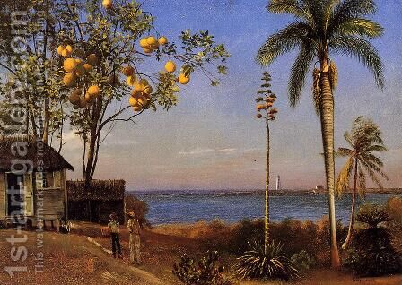 A View In The Bahamas by Albert Bierstadt - Reproduction Oil Painting
