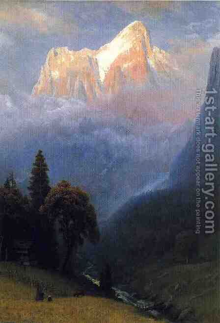 Storm Among The Alps by Albert Bierstadt - Reproduction Oil Painting
