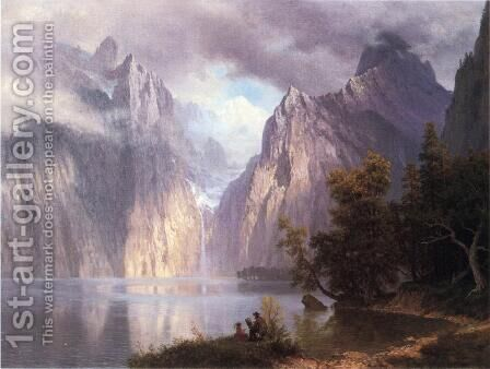 Scene In The Sierra Nevada by Albert Bierstadt - Reproduction Oil Painting