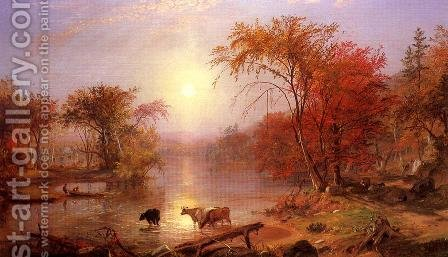 Indian Summer   Hudson River by Albert Bierstadt - Reproduction Oil Painting