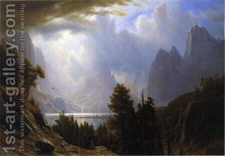 Landscape by Albert Bierstadt - Reproduction Oil Painting