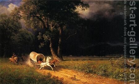 The Ambush by Albert Bierstadt - Reproduction Oil Painting