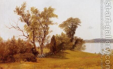 Sailboats On The Hudson At Irvington by Albert Bierstadt - Reproduction Oil Painting
