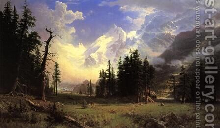 The Morteratsch Glacier  Upper Engadine Valley  Pontresina by Albert Bierstadt - Reproduction Oil Painting