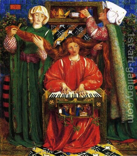A Christmas Carol2 by Dante Gabriel Rossetti - Reproduction Oil Painting