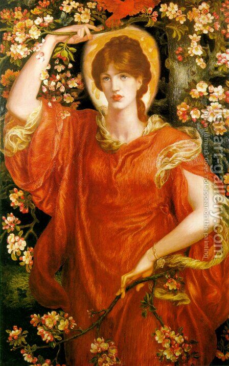 A Vision of Fiammetta 1878 by Dante Gabriel Rossetti - Reproduction Oil Painting