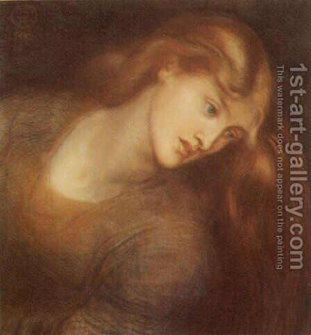 Aspecta Medusa by Dante Gabriel Rossetti - Reproduction Oil Painting
