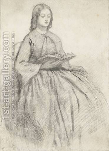 Elizabeth Siddall In A Chair by Dante Gabriel Rossetti - Reproduction Oil Painting