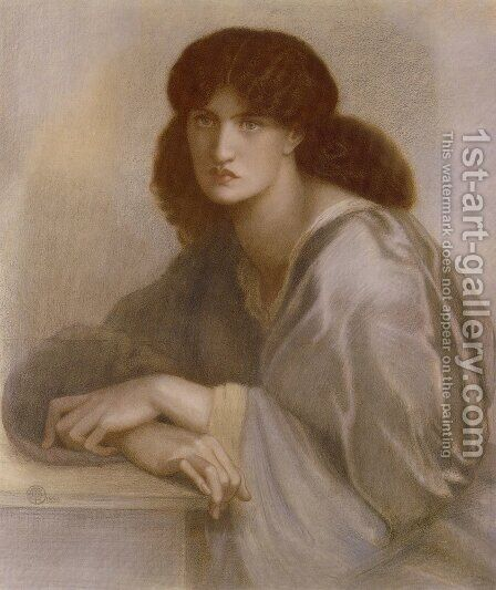 La Donna Della Finestra2 by Dante Gabriel Rossetti - Reproduction Oil Painting
