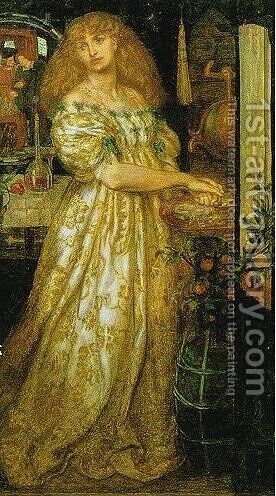 Lucrezia Borgia by Dante Gabriel Rossetti - Reproduction Oil Painting