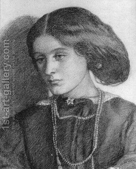 Mrs  Burne Jones by Dante Gabriel Rossetti - Reproduction Oil Painting