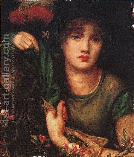 My Lady Greensleeves by Dante Gabriel Rossetti - Reproduction Oil Painting