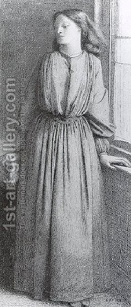 Portrait Of Elizabeth Siddal3 by Dante Gabriel Rossetti - Reproduction Oil Painting