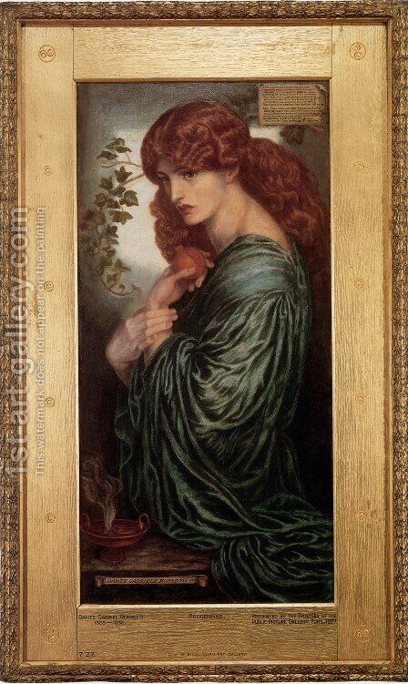 Proserpine 1874 by Dante Gabriel Rossetti - Reproduction Oil Painting