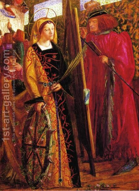 Saint Catherine 1857 by Dante Gabriel Rossetti - Reproduction Oil Painting