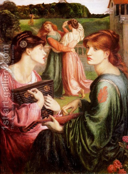 Study Of A Girl by Dante Gabriel Rossetti - Reproduction Oil Painting