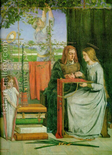 The Childhood Of Mary Virgin by Dante Gabriel Rossetti - Reproduction Oil Painting