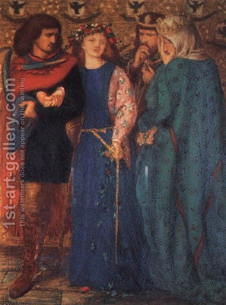 The First Madness Of Ophelia by Dante Gabriel Rossetti - Reproduction Oil Painting