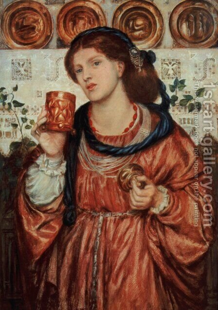 The Loving Cup by Dante Gabriel Rossetti - Reproduction Oil Painting