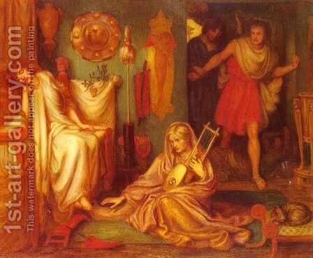 The Return Of Tibullus To Delia2 by Dante Gabriel Rossetti - Reproduction Oil Painting