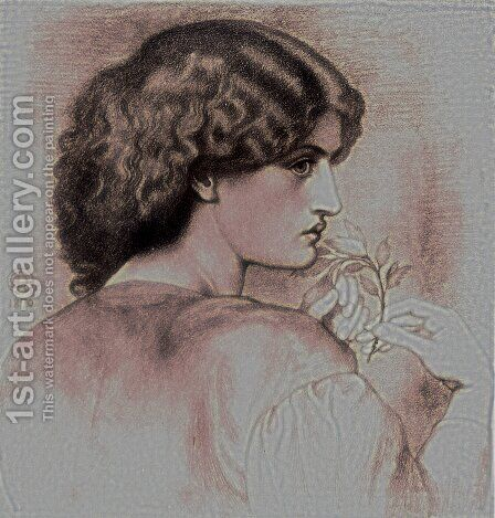 The Roseleaf by Dante Gabriel Rossetti - Reproduction Oil Painting